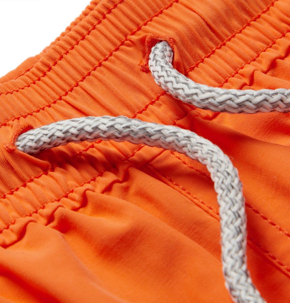 b011ea06b7 Lyst - Vilebrequin Moorea Midlength Swim Shorts in Orange for Men