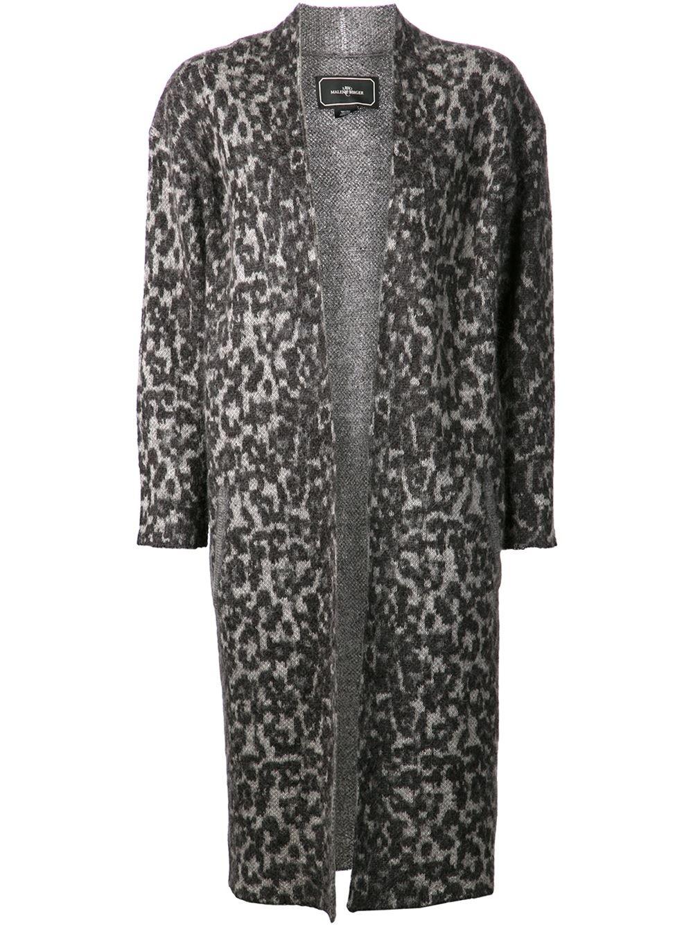 bbff9cf3dbe0 By Malene Birger Cameliu Leopard Cardigan in Gray - Lyst