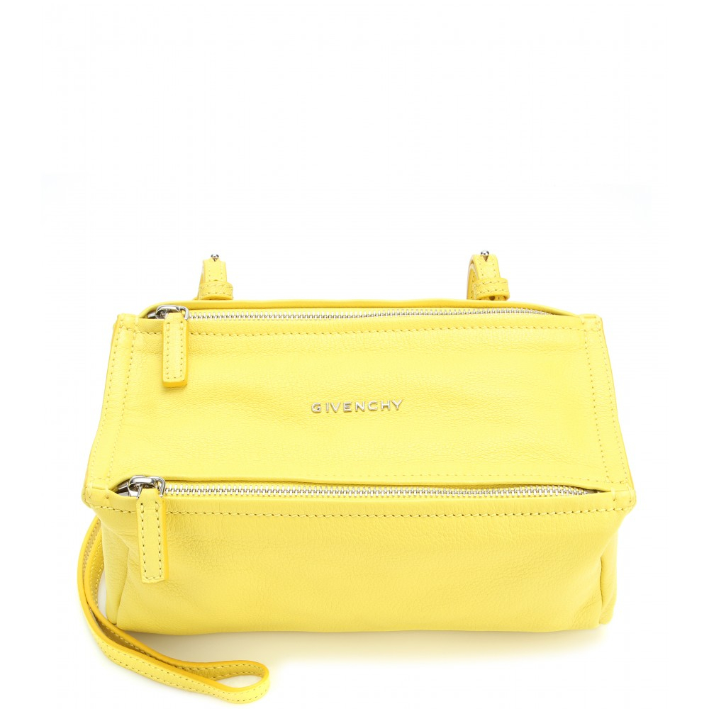 Givenchy Pandora Mini Leather Shoulder Bag in Yellow - Lyst fd4b8979d84cd