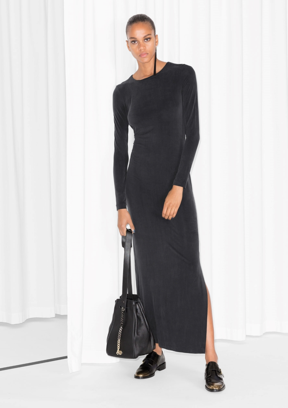 9231736d7d   Other Stories Open Back Dress in Black - Lyst