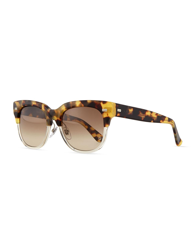 Glitter half-rim sunglasses Gucci d1xGuv