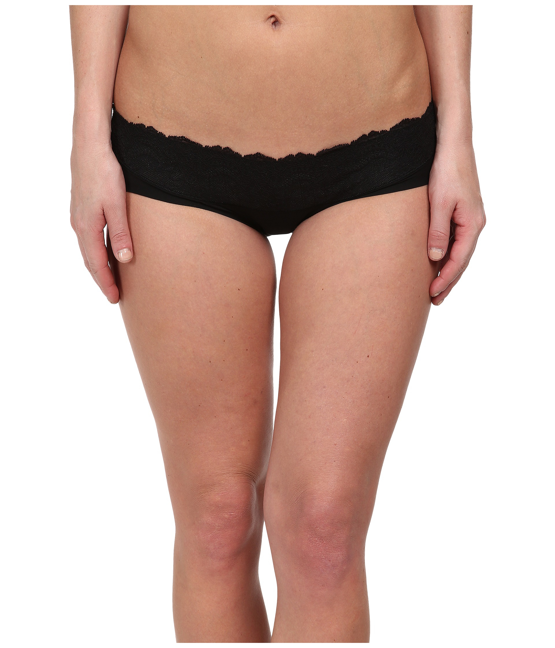 Spanx Lace Waist Hipster in Black