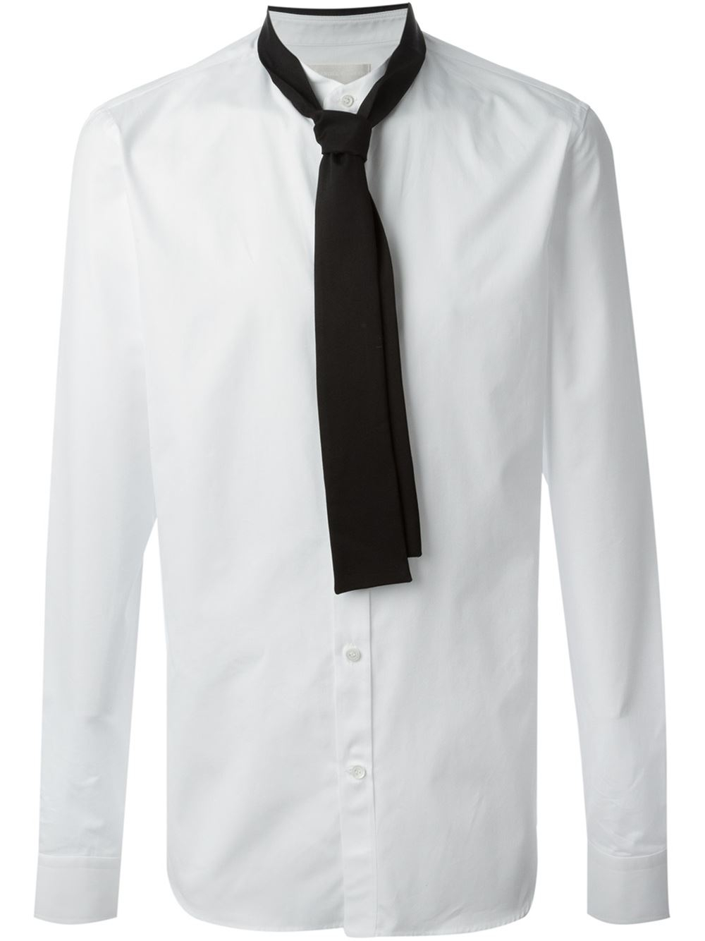 92aa142c4a9f Alexander McQueen Tie Detail Shirt in White for Men - Lyst