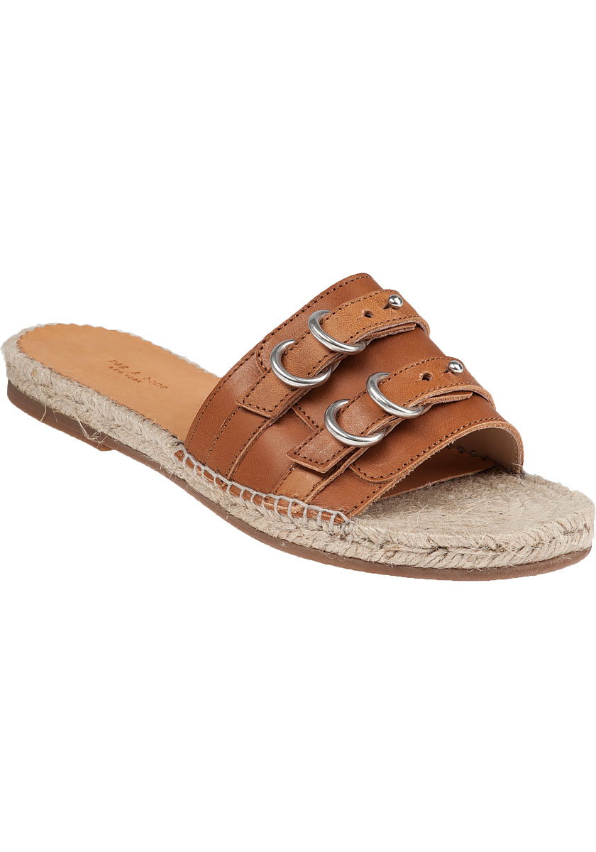 Lyst Rag Amp Bone Jules Tan Leather Espadrille Sandal In Brown