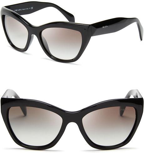 Prada Cat Eye Sunglasses in BlackPrada Cat Eye Sunglasses 2013