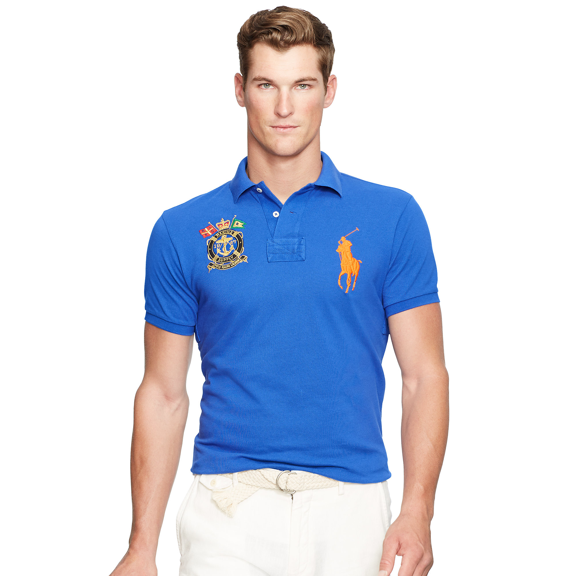 4a1fdf1af8 Ralph Lauren Custom Fit Polo Shirt White