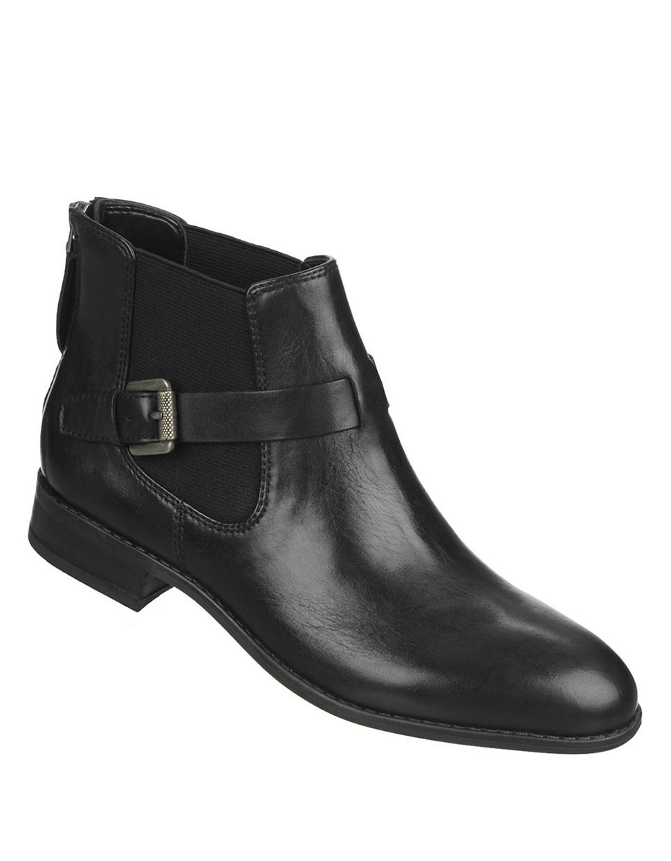 franco sarto elgin leather boots in black lyst