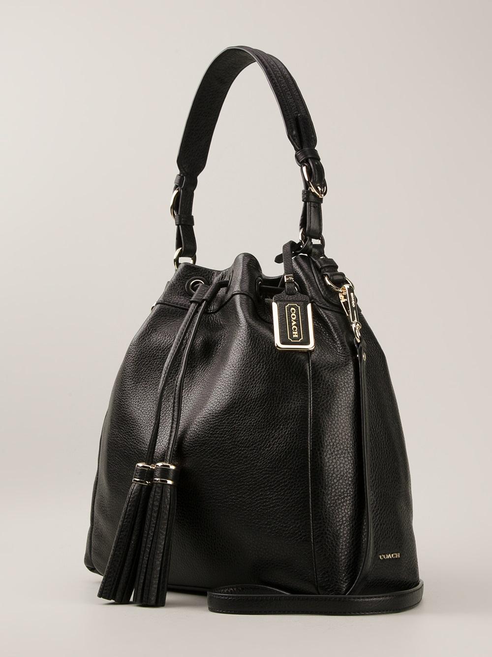 Coach Madison Pinnacle Shoulder Bag in Black - Lyst