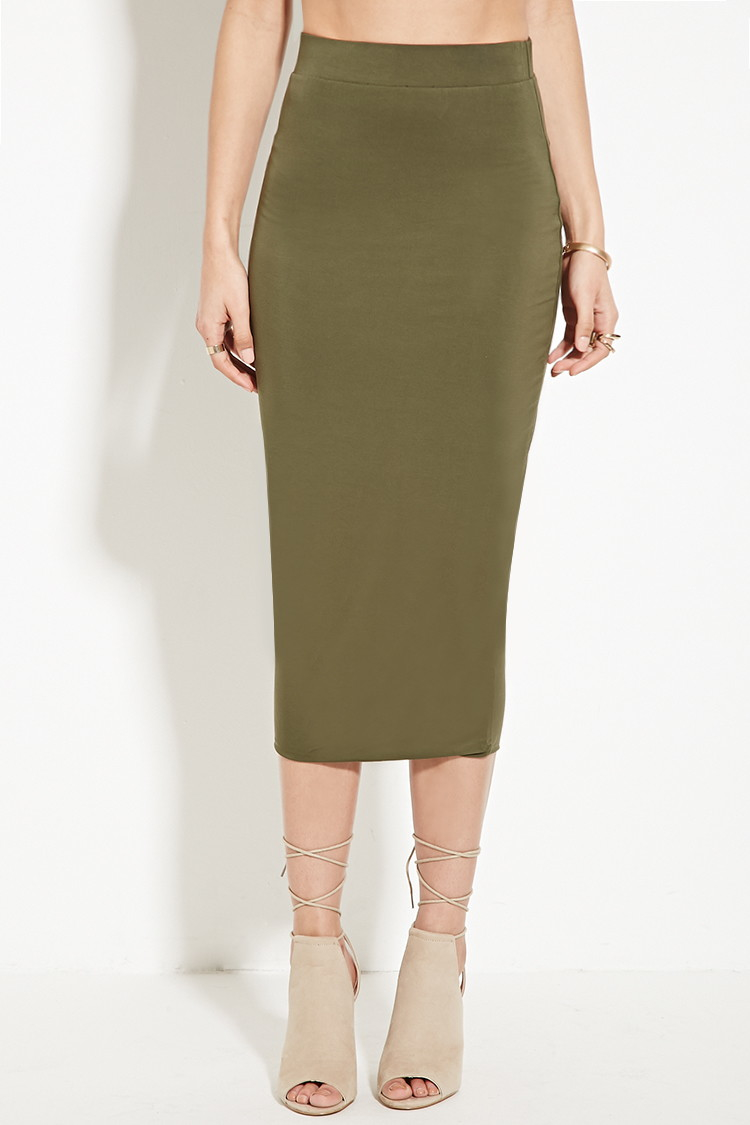 8d4c2a65d5 Olive Green Skirt Forever 21