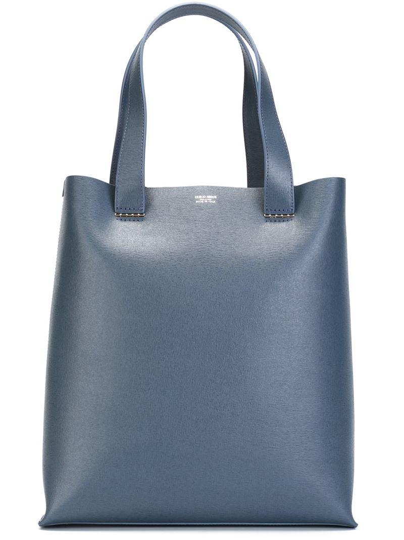 76144e0ce609 Lyst - Giorgio Armani Square Tote Bag in Blue