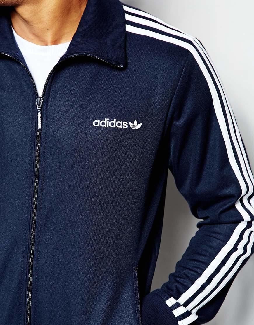 bfadf8eac0ef Lyst - Adidas Originals Beckenbauer Track Jacket Aj6952 in Blue for Men