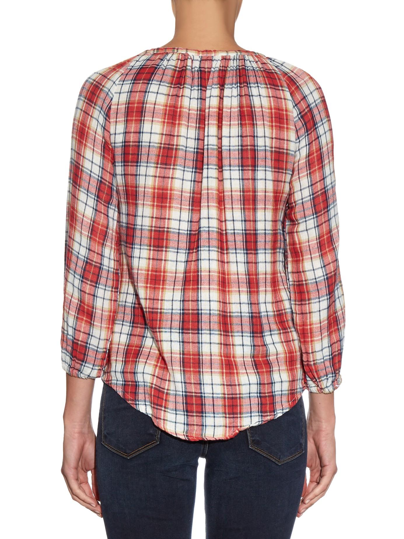 Lyst Velvet By Graham Spencer Plaid Shirt In Red