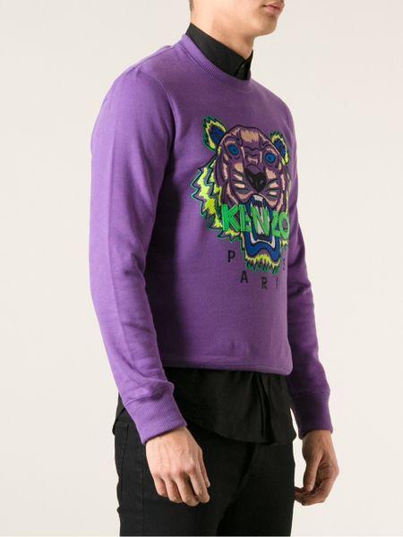 Kenzo Tiger Sweatshirt In Purple For Men Pink Amp Purple