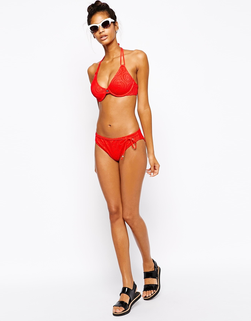 b519c6c9cd111 Lyst - Freya Cha Cha Under Wire Bandless Halter Bikini Top in Red