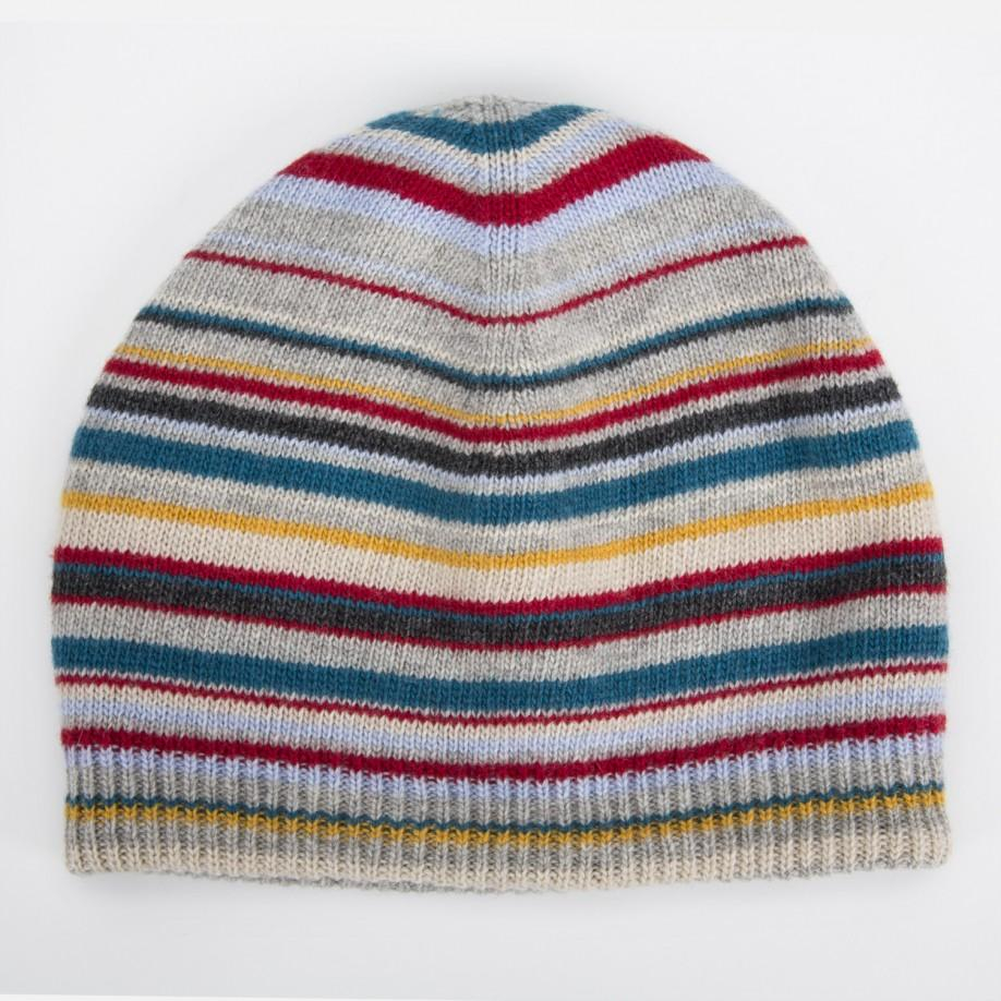 ea767d990b8 Lyst - Paul Smith Men s Grey Signature Stripe Wool-blend Beanie Hat ...
