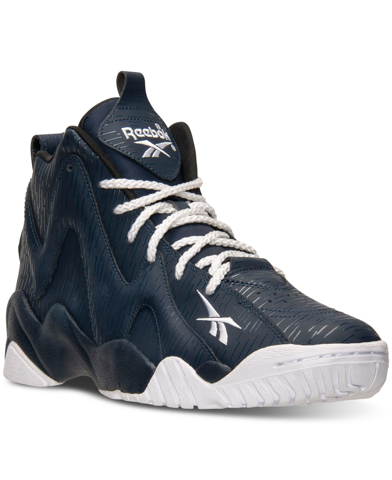 889cfaa440ae6c Lyst - Reebok Men s Kamikaze Ii Mid Basketball Sneakers From Finish ...