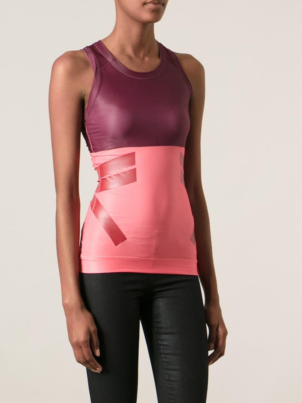 uk availability 68c50 60f30 Lyst - adidas By Stella McCartney Run Tank Top in Pink