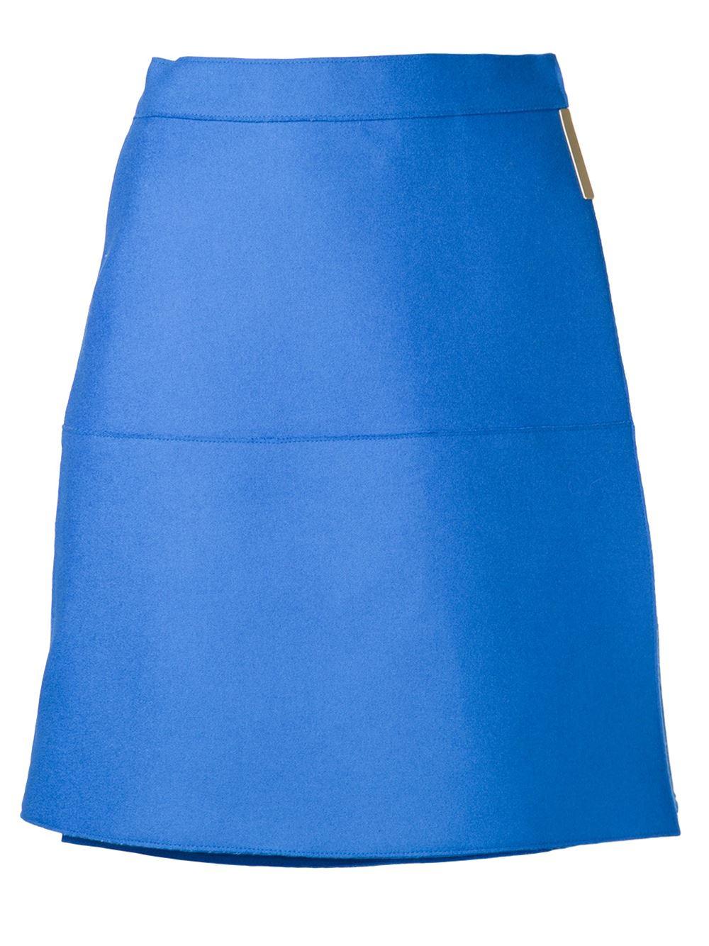 beckham wrap skirt in blue lyst