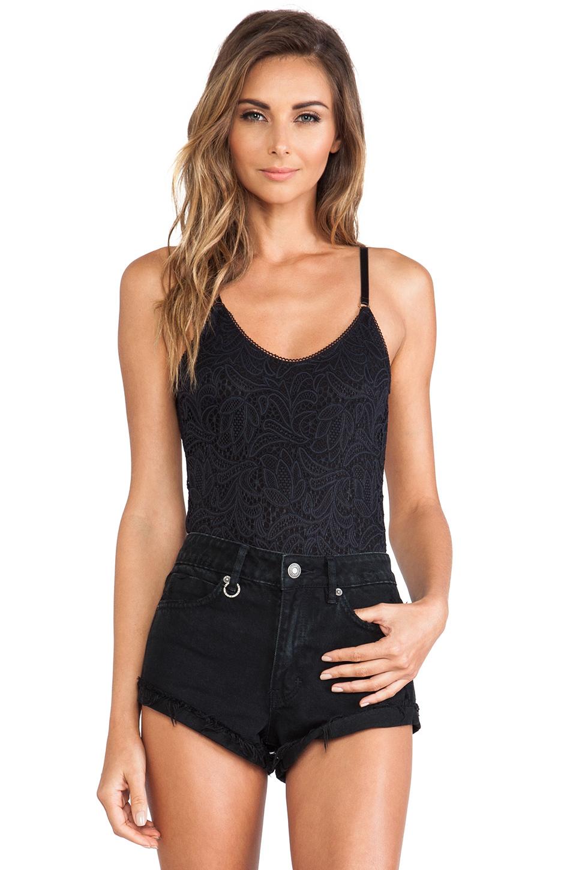 For love & lemons Basically Backless Bodysuit in Black | Lyst