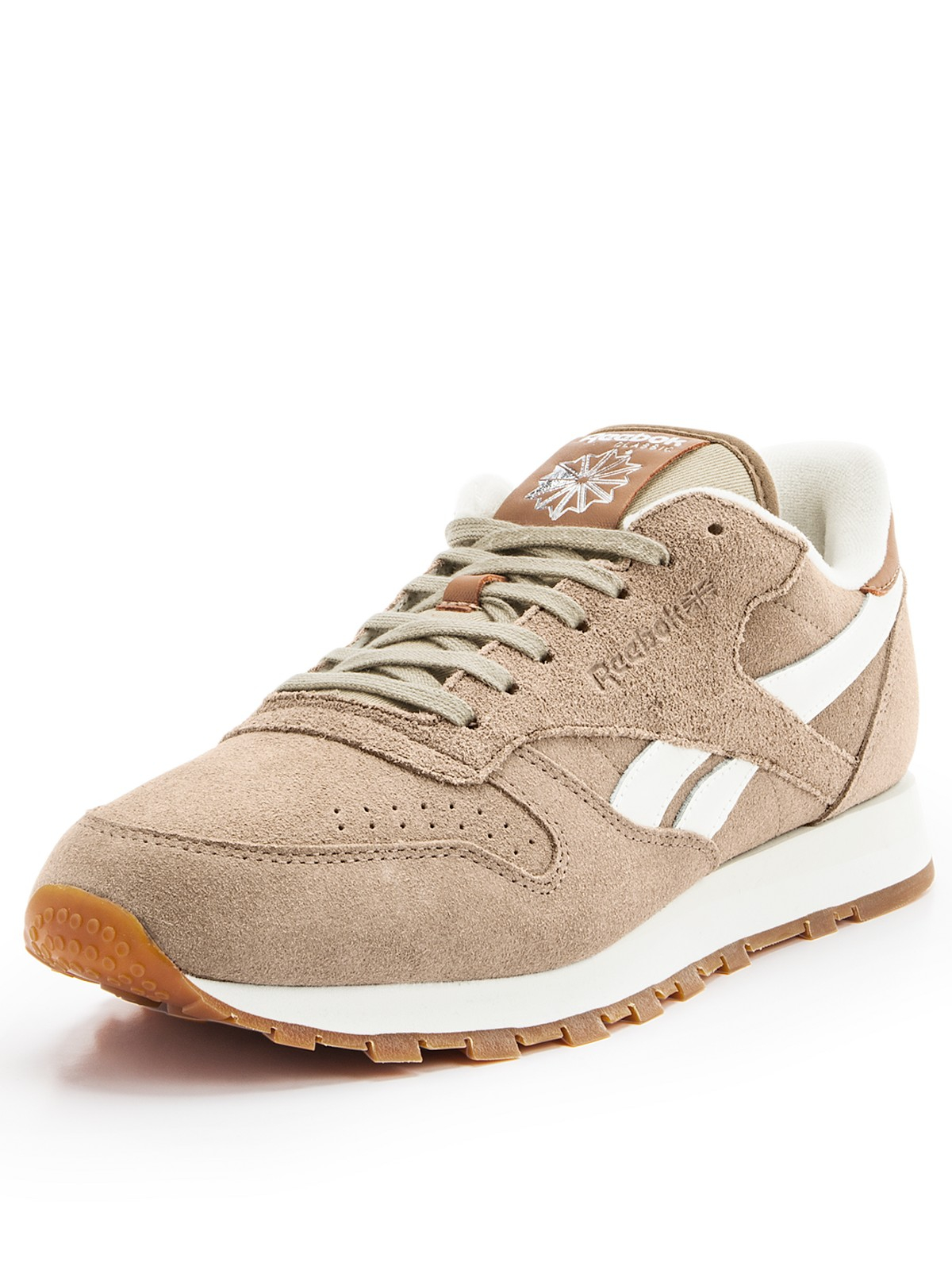 reebok classic leather suede trainers in beige for men lyst. Black Bedroom Furniture Sets. Home Design Ideas
