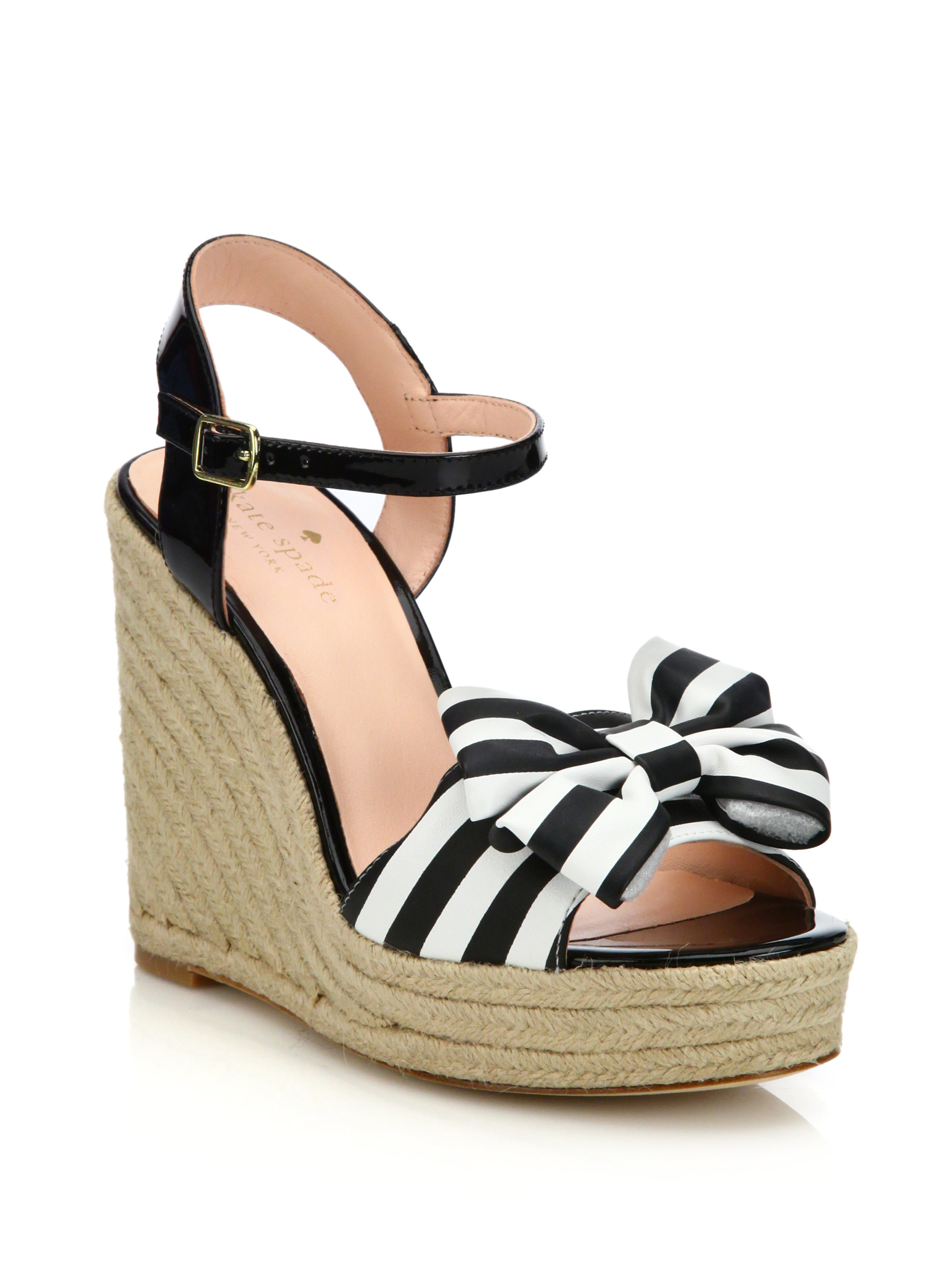 Kate Spade New York Satin Wedge Sandals free shipping nicekicks TTupdd