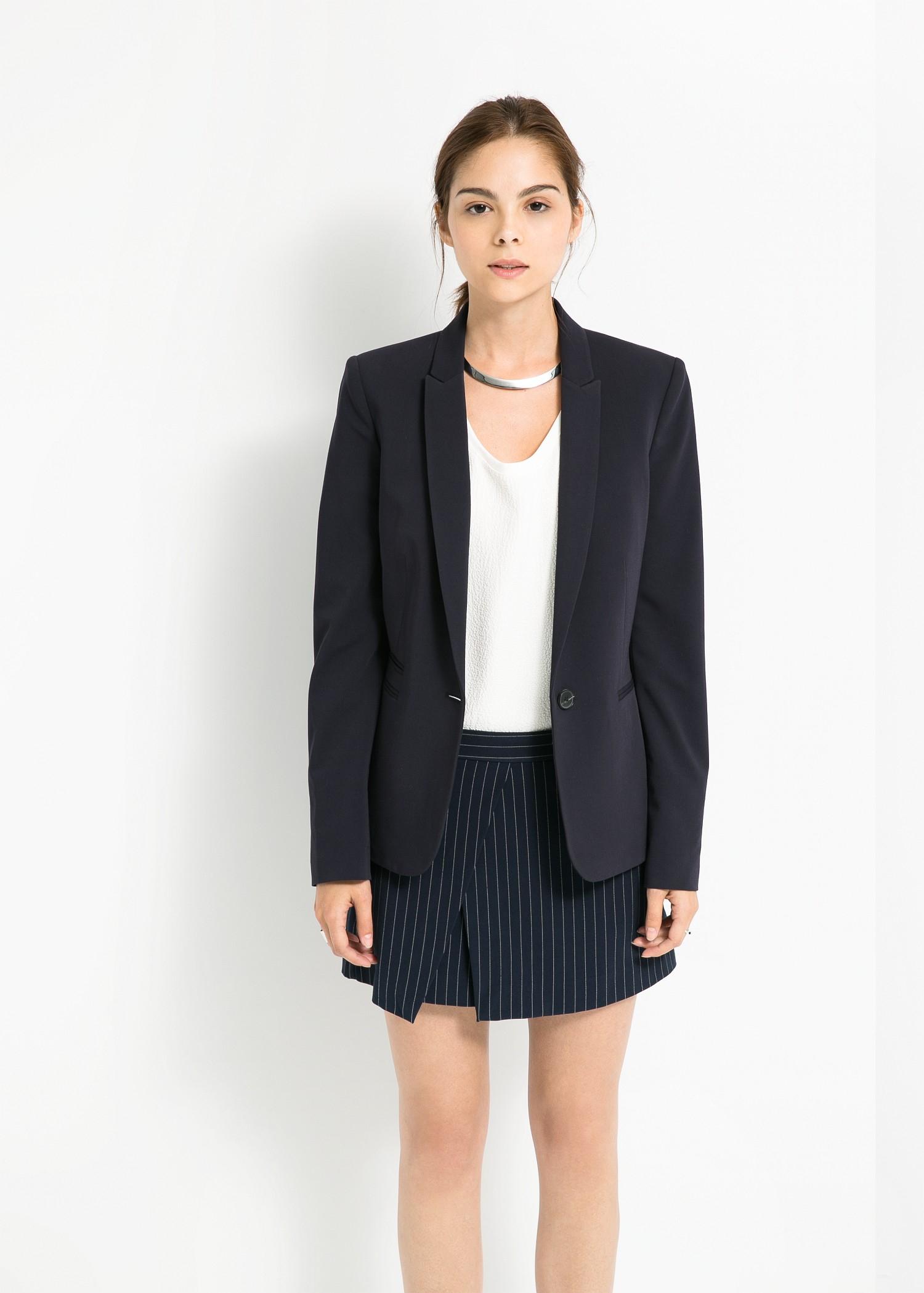 detallado seleccione para oficial 60% de descuento Mango Suit Blazer in Navy (Blue) - Lyst