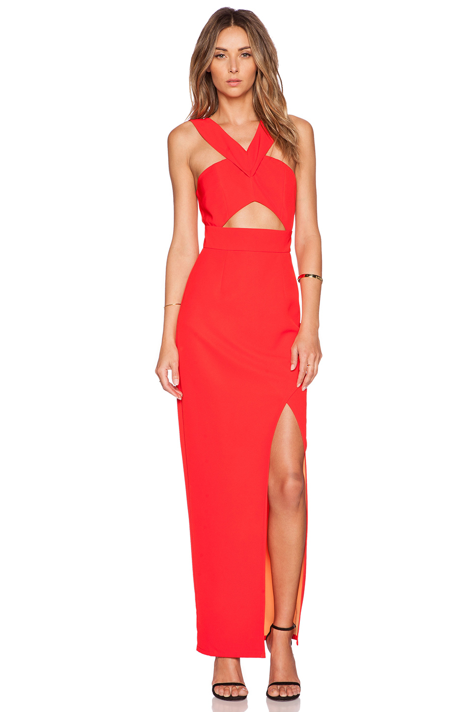 Lumier Flamboyant Flame Maxi Dress in Red | Lyst