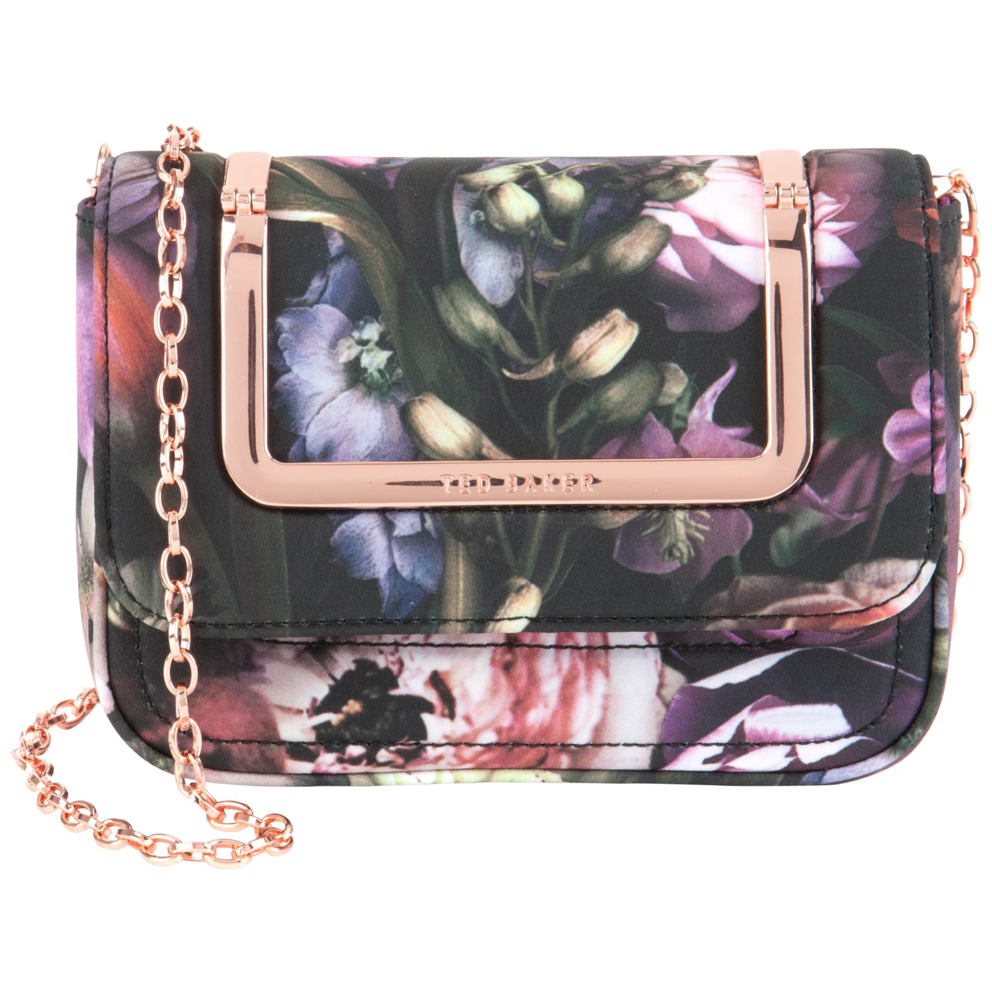 b91806eca46 Ted Baker Sefina Shadow Floral Clutch Bag in Gray - Lyst
