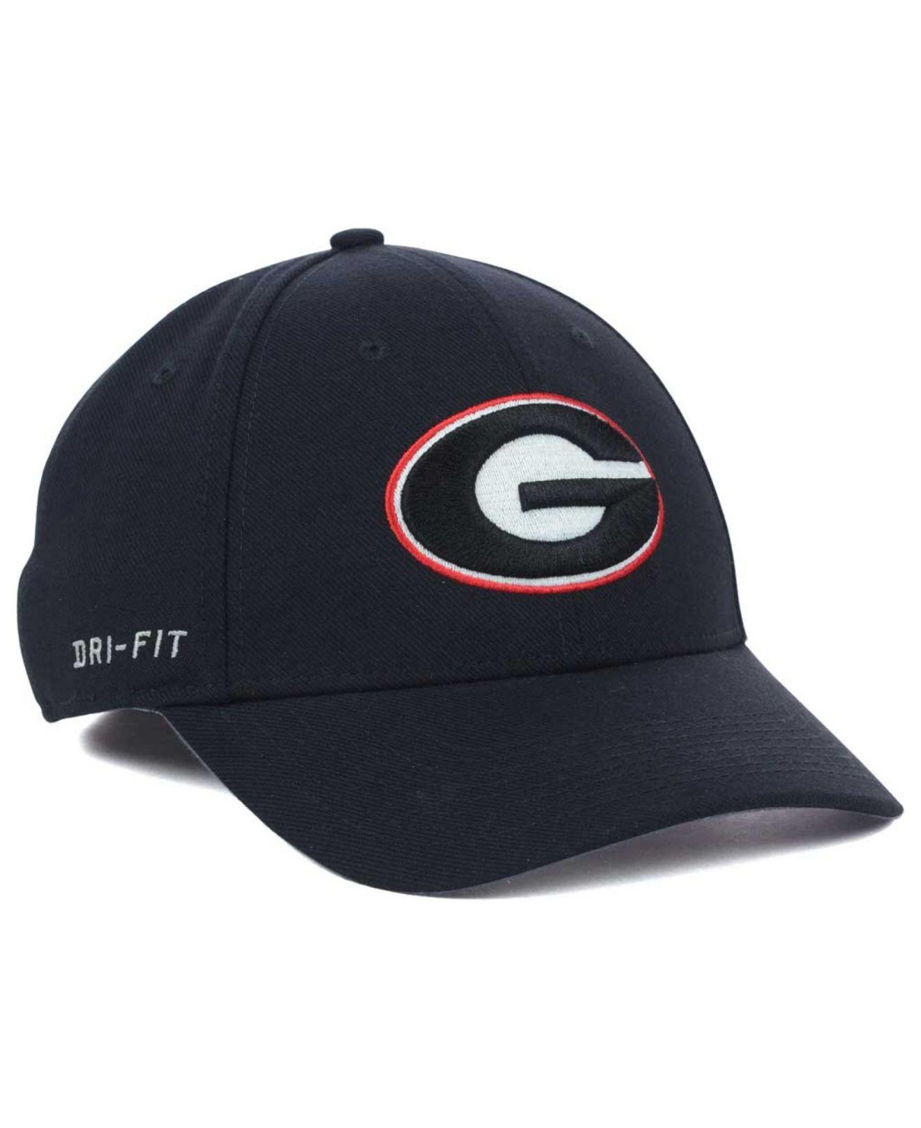 Lyst - Nike Georgia Bulldogs Dri-Fit Swoosh Flex Cap in Black for Men 3f790d81e8b