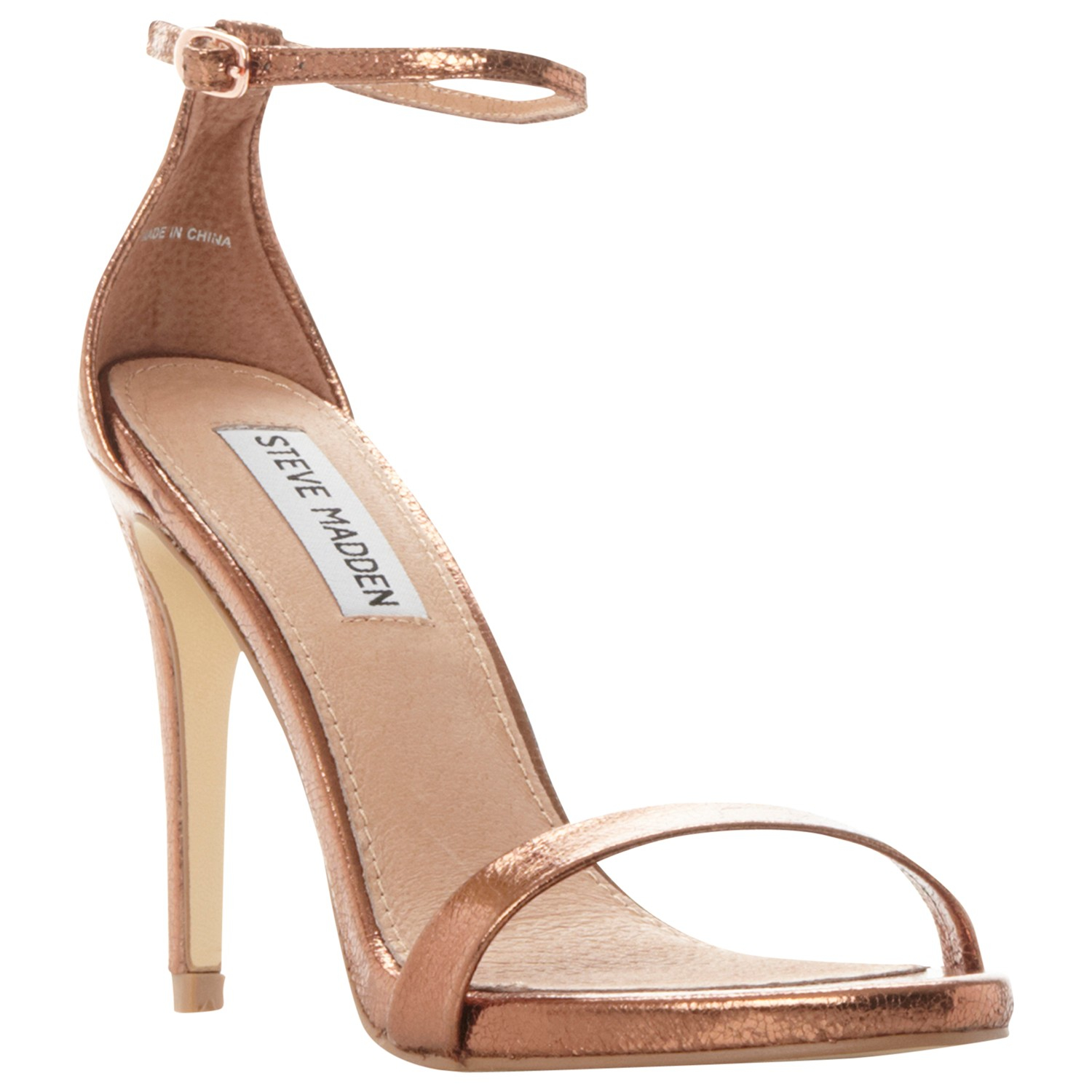 bc6dade29bf Steve Madden Stecy Stiletto Sandals in Natural - Lyst