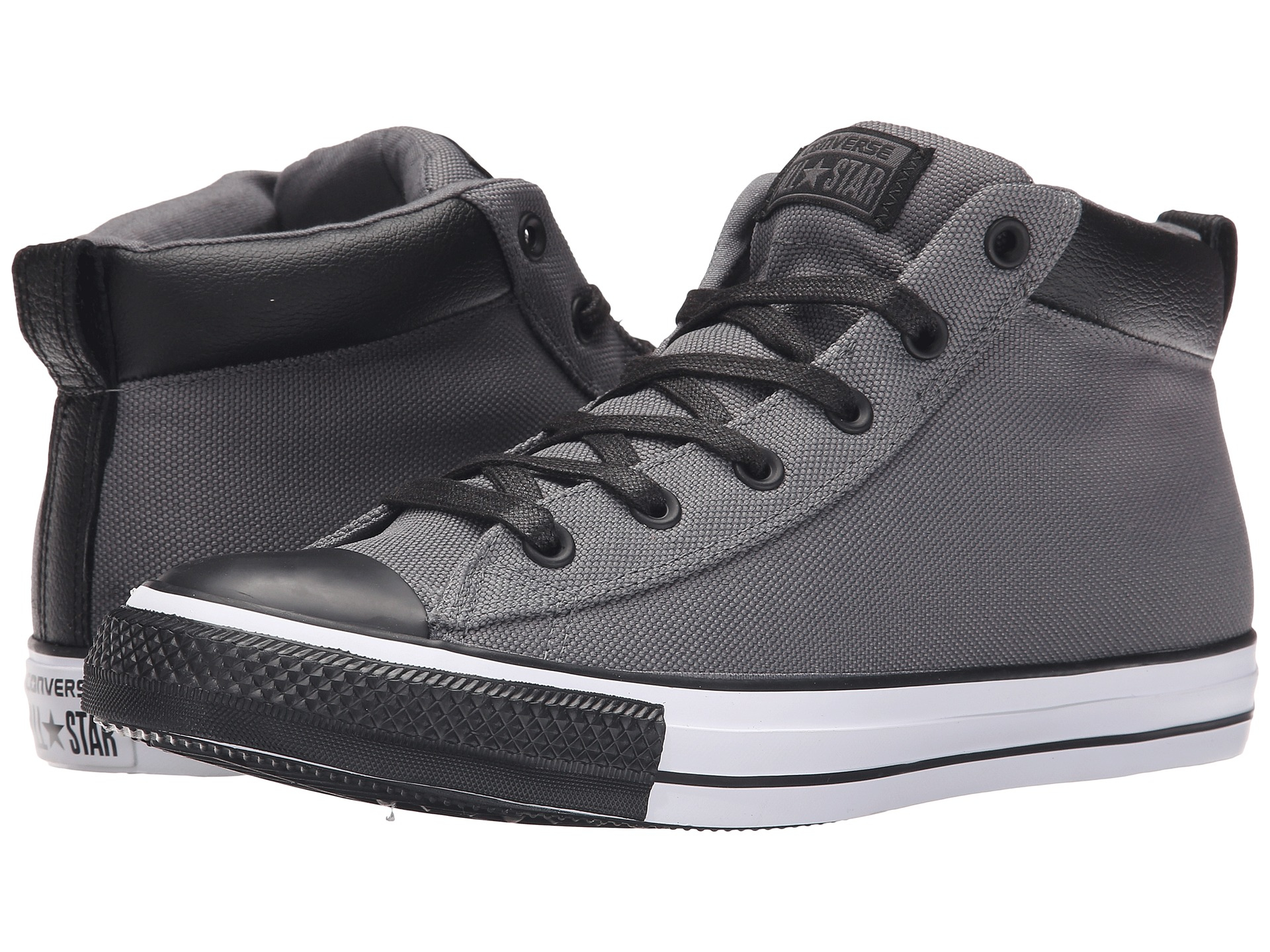 53daefde3aa07e Lyst - Converse Chuck Taylor® All Star® Street Nylon Leather Hi in ...