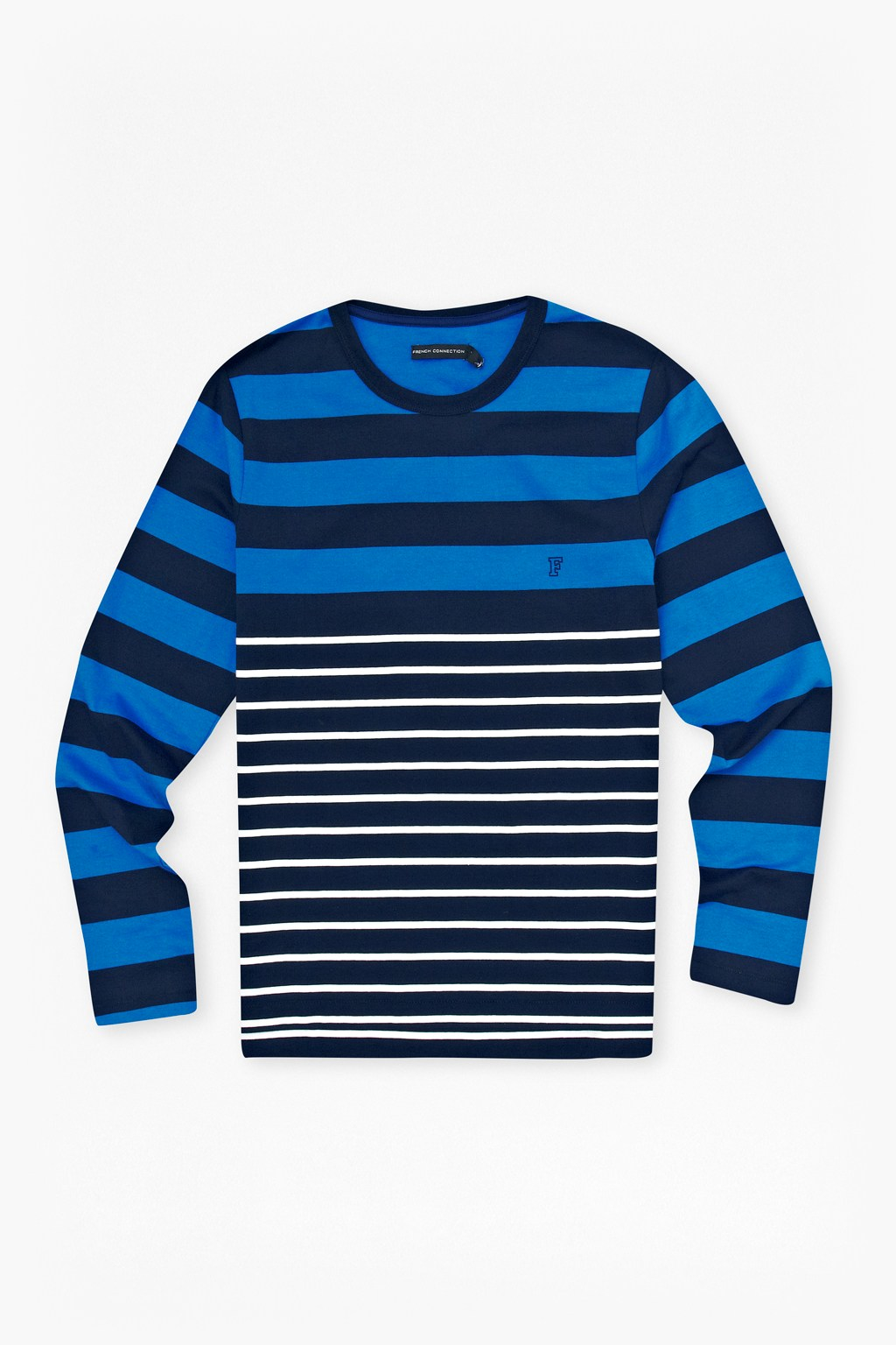 French connection craven stripe long sleeve t shirt in Striped long sleeve t shirt