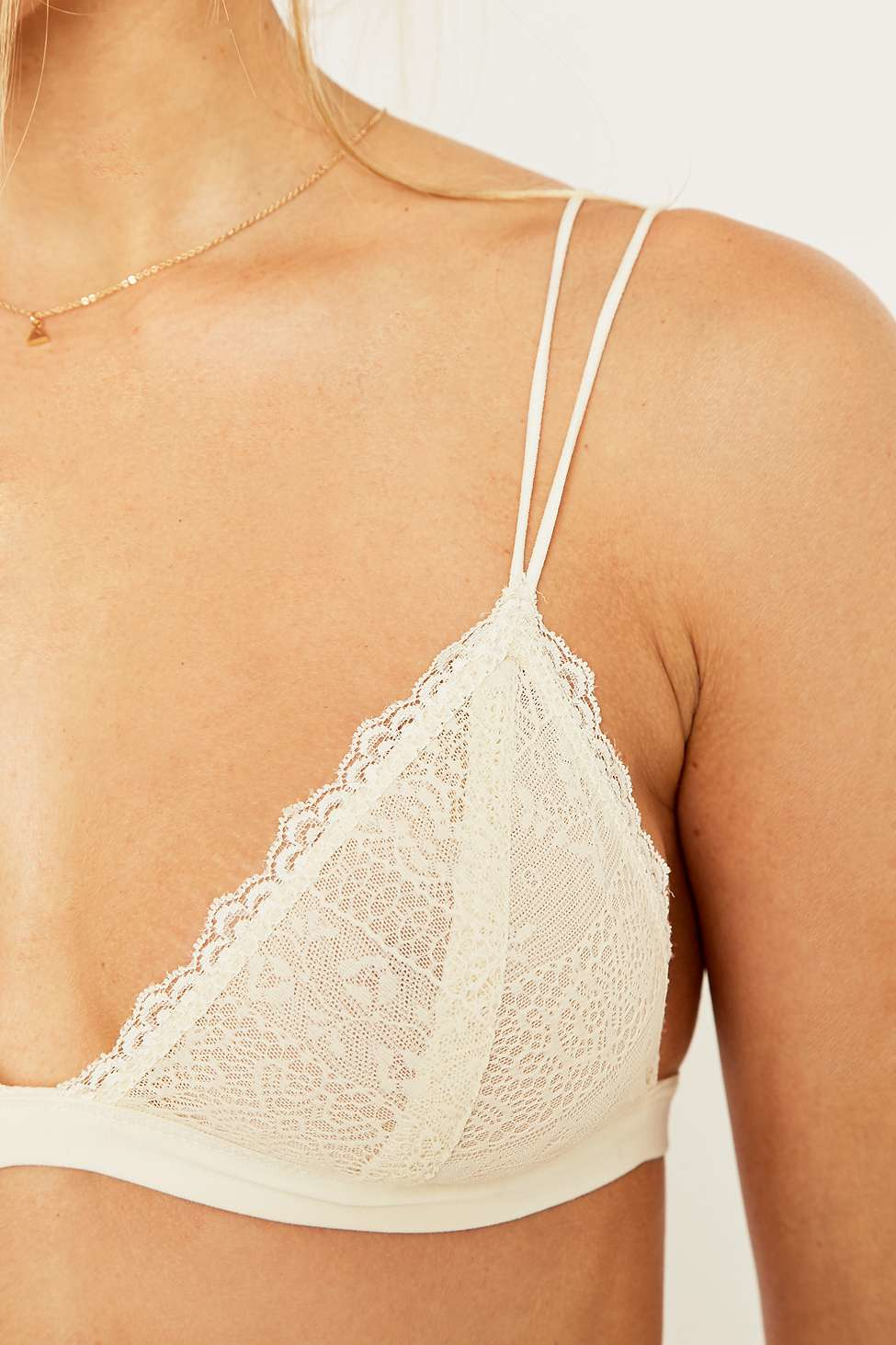 f471ca6b3d Urban Outfitters Ivory Linear Bralette in White - Lyst