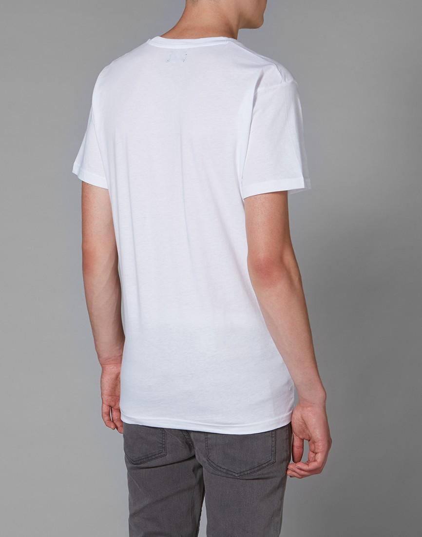Lyst cheap monday t shirt with skull print in white for men for Cheap print t shirts