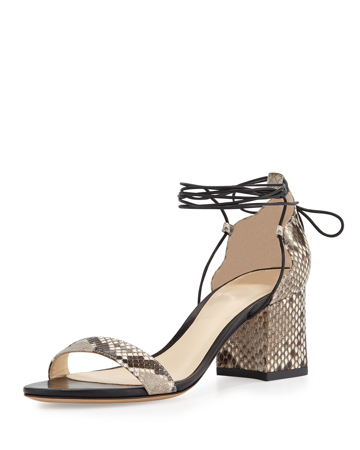 Alexandre Birman Snakeskin Wrap-Around Sandals clearance discount cheap in China shop online cheap newest for sale very cheap M9qr8Awm