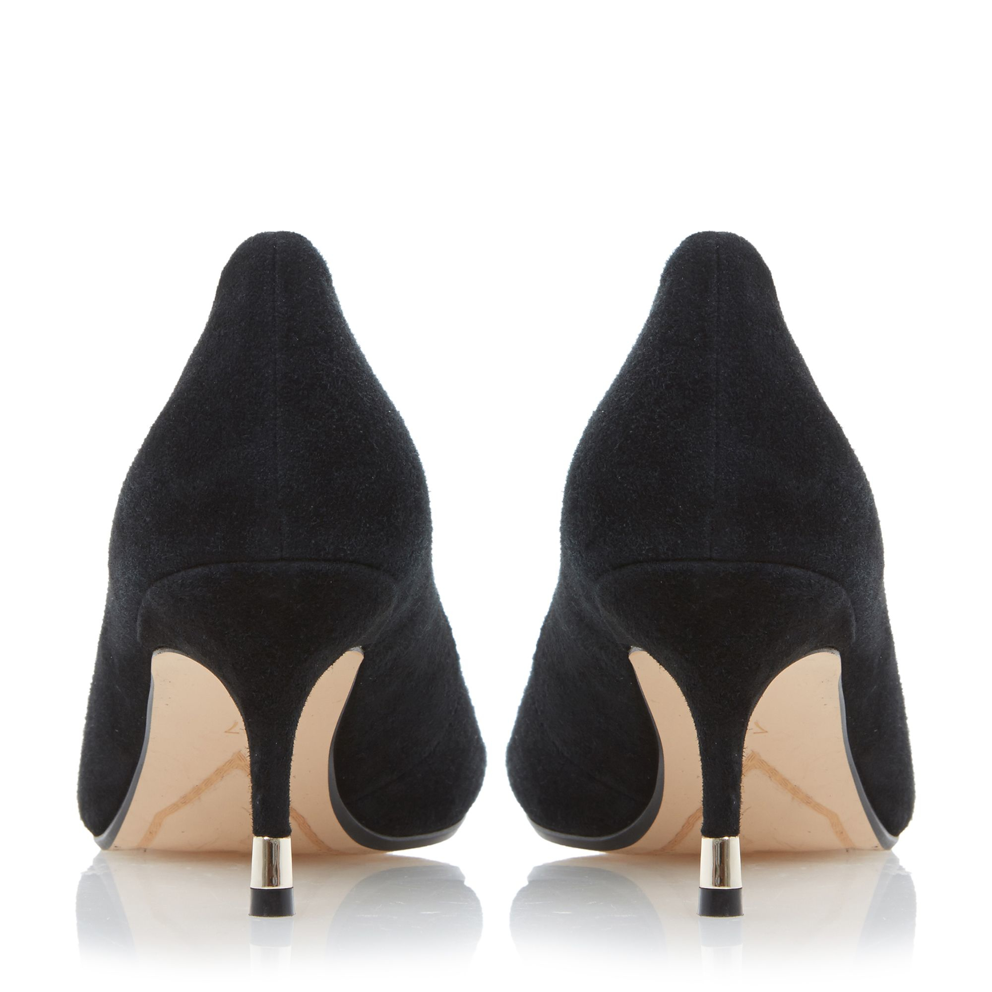 Black Suede Kitten Heel Court Shoe - The Cutest Kittens