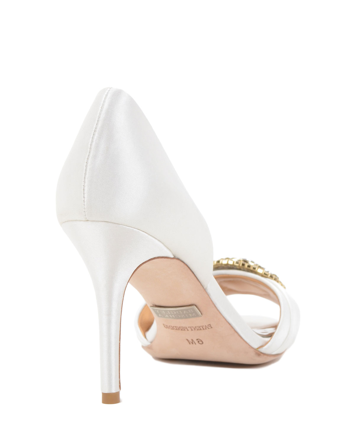 badgley mischka melody adorned d orsay evening shoe in