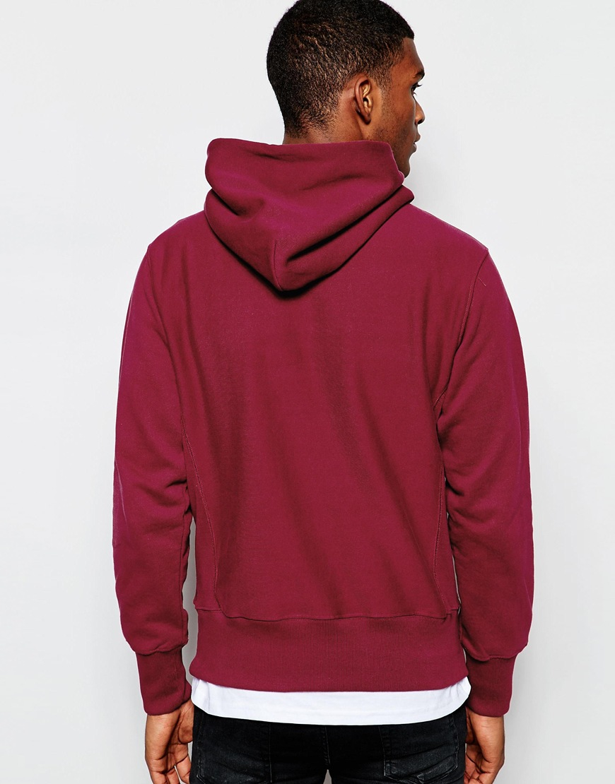Champion Hoodie With Script Logo in Purple for Men | Lyst