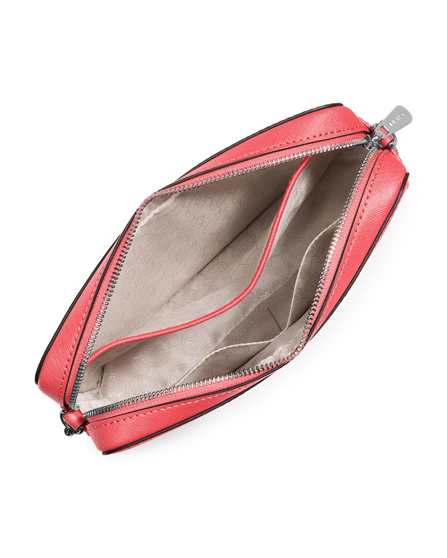 17febace4fe785 MICHAEL Michael Kors Jet Set Travel Leather Cross-Body Bag in Pink ...