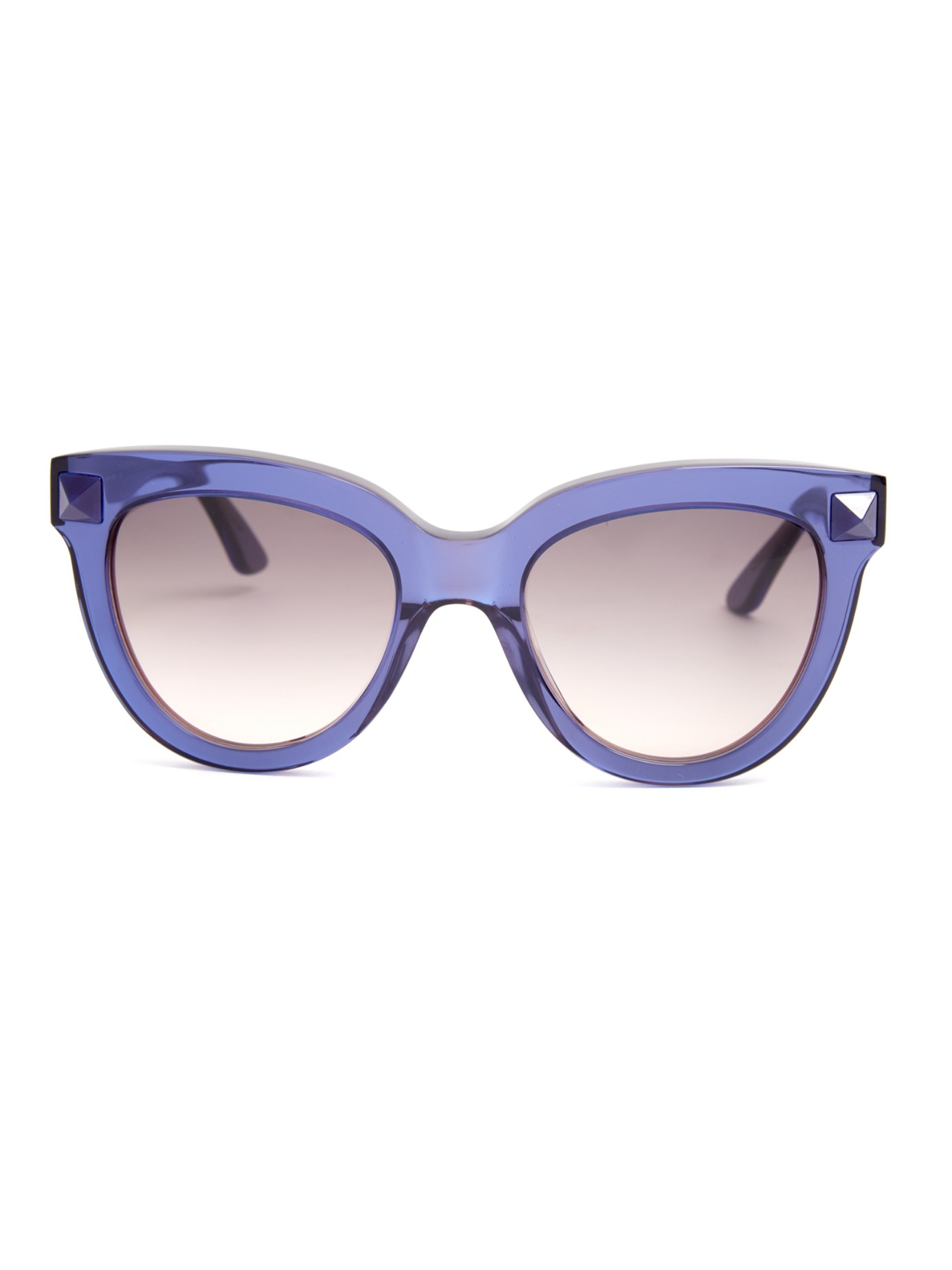Lyst - Valentino Rockstud Cat-eye Frame Sunglasses in Blue