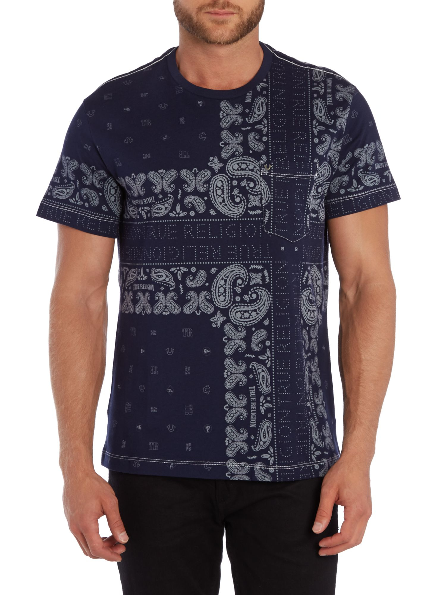true religion tshirt in blue for men lyst