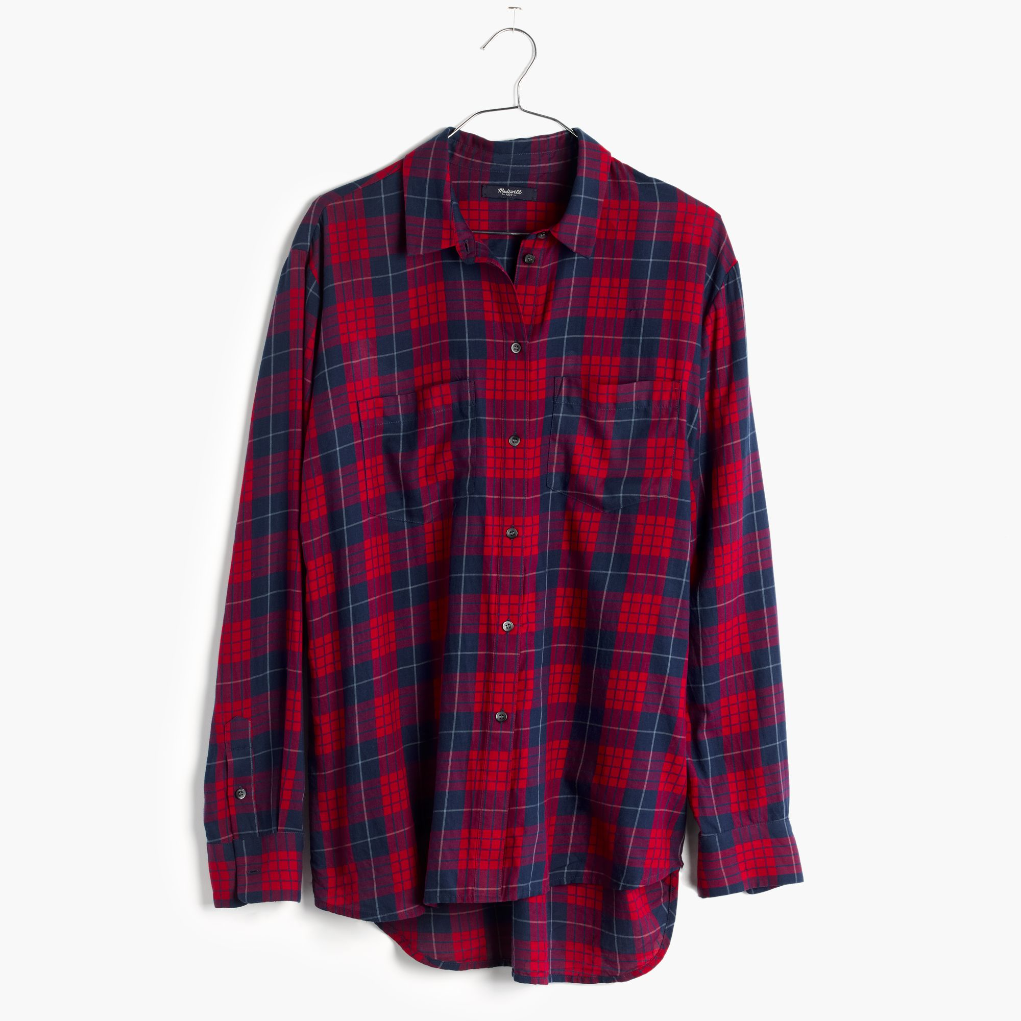 Lyst Madewell Oversized Boyshirt In Edina Plaid In Red