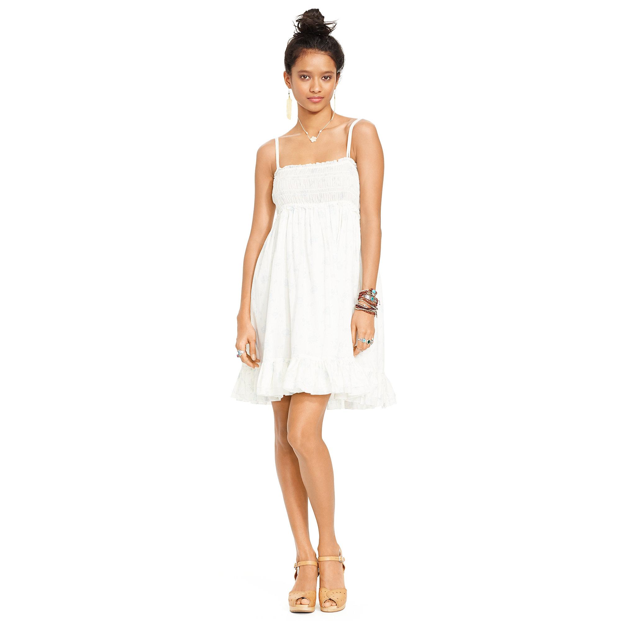 new varieties fashion style new arrival Denim & Supply Ralph Lauren Smocked Cotton Voile Sundress - Lyst