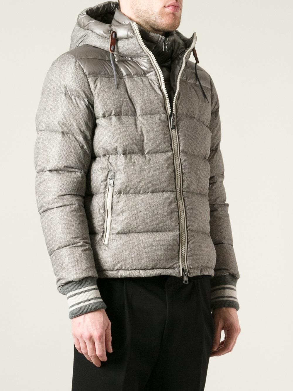 Lyst Moncler Eusebe Padded Jacket In Gray For Men