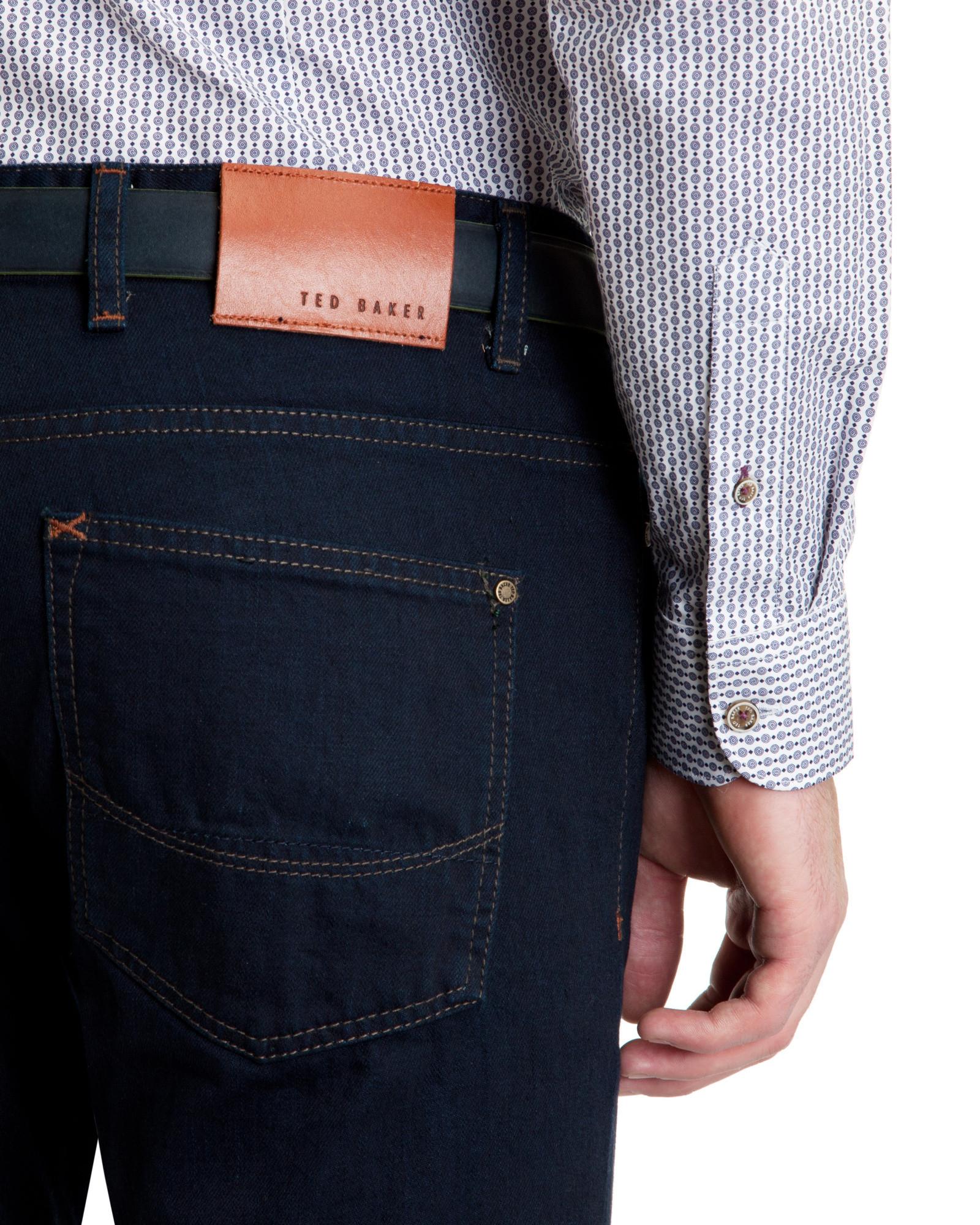 84a8d1bcf Lyst - Ted Baker Selsey Slim Fit Denim Jeans in Blue for Men