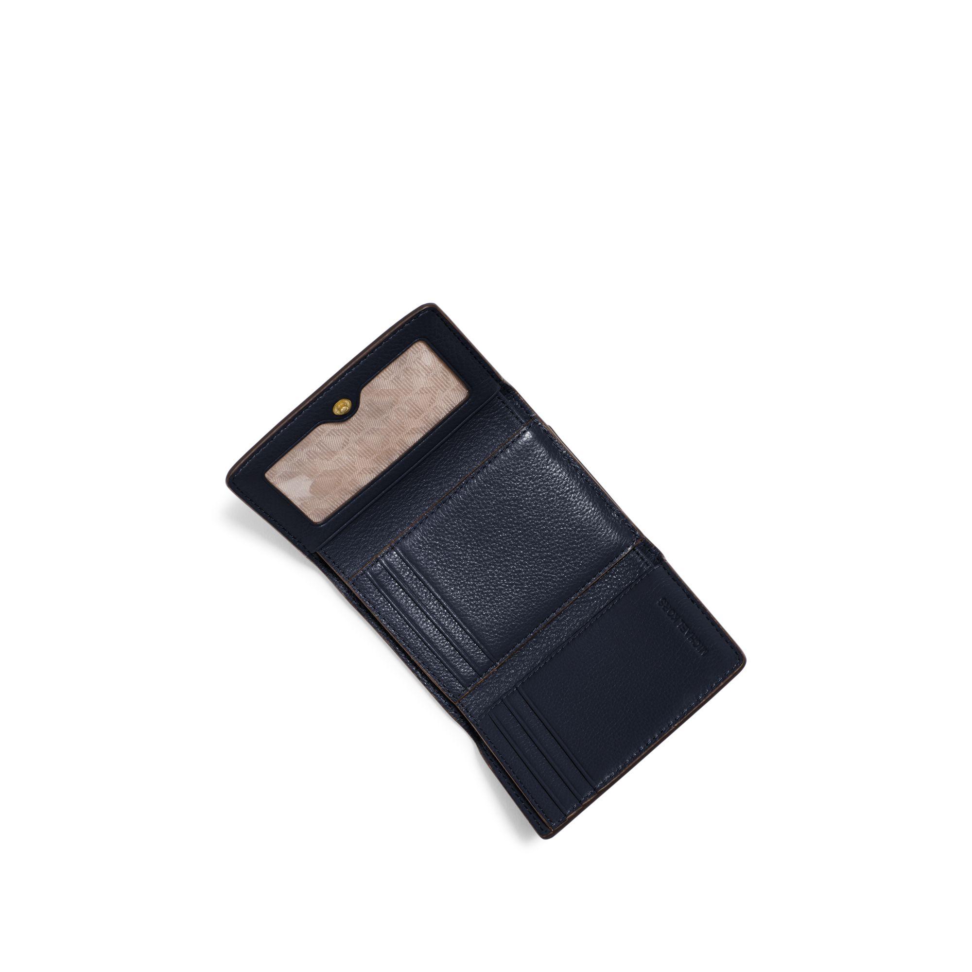 b8262150537b Michael Kors Liane Small Leather Card Holder in Blue - Lyst