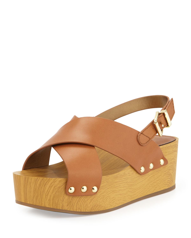 e81aba6ef11 Lyst - Sam Edelman Bentlee Crisscross Wedge Sandal in Brown