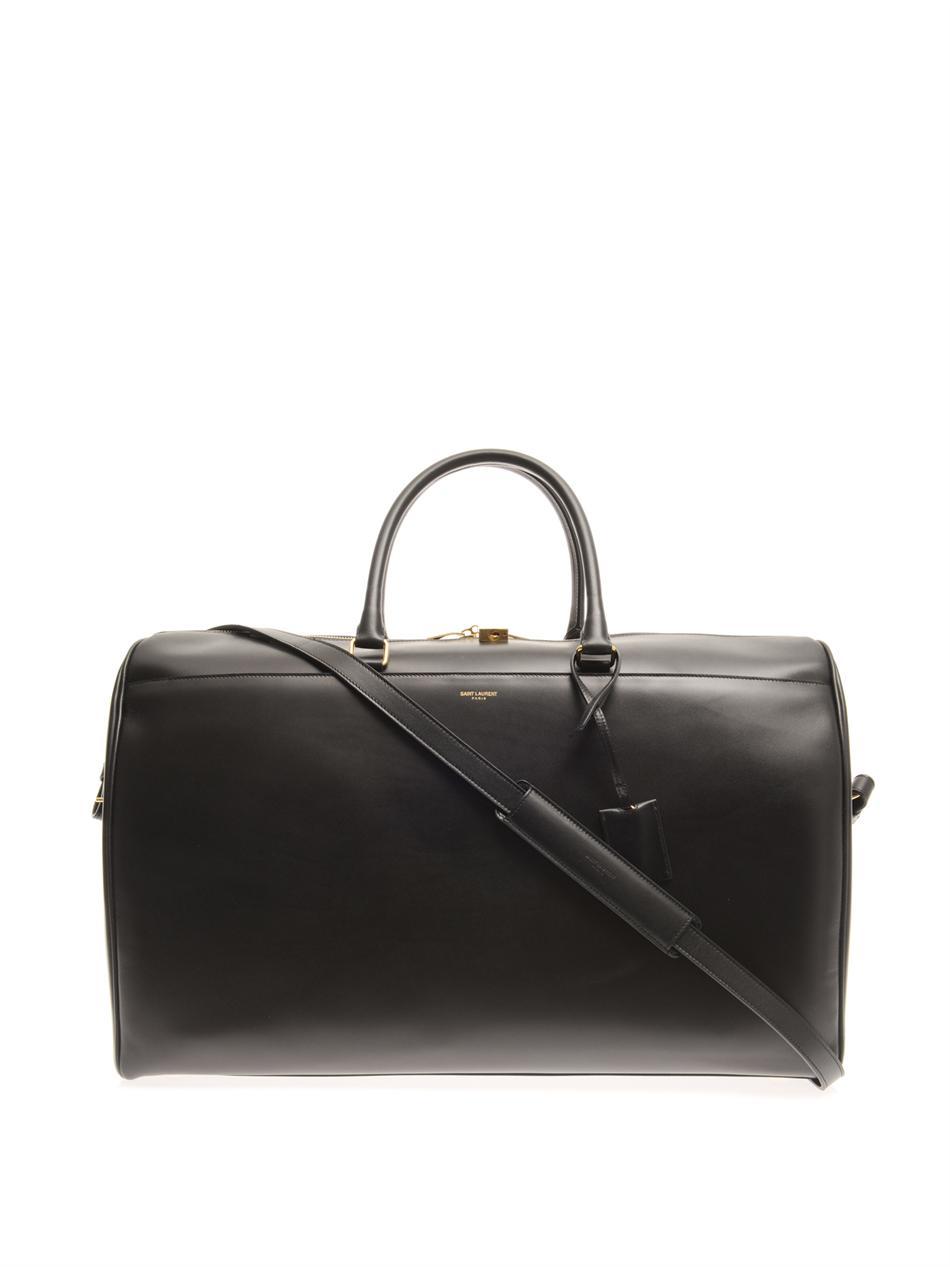 Saint laurent Leather Weekend Bag in Black for Men | Lyst