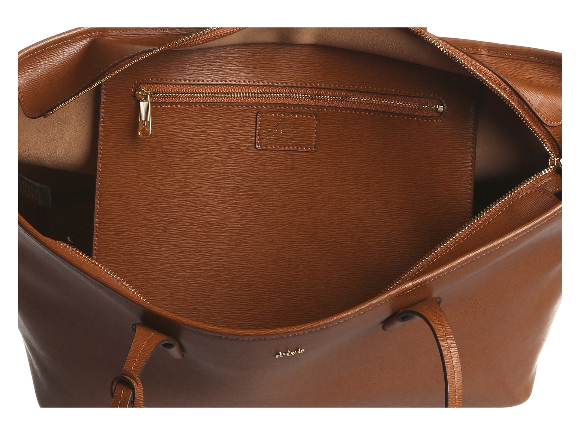 Lyst - Lauren by Ralph Lauren Tate Classic Tote in Brown 1e77a5116b7b3