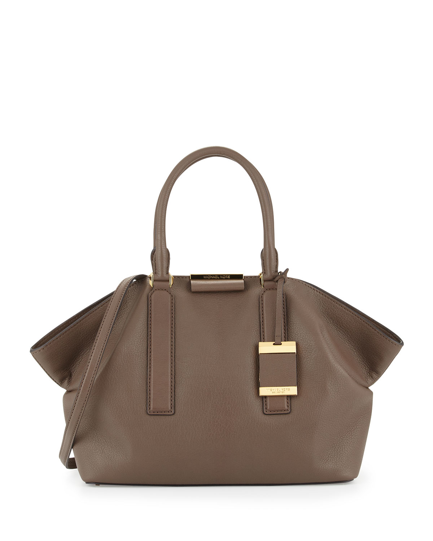 31675404099 Michael Kors Lexi Large Satchel Bag in Gray - Lyst
